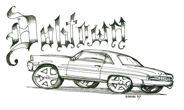Lowrider Sketches Pictures to Pin on Pinterest Clanek