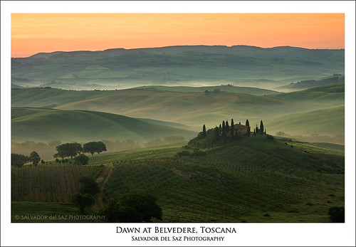 Dawn at Belvedere, Tuscany (II)