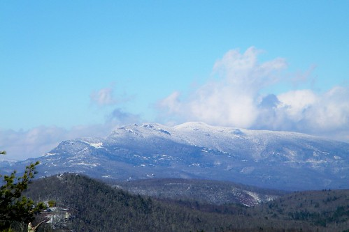 bear mountain snow sitting north grandfather linville carolina gorge wilderness burke pisgah