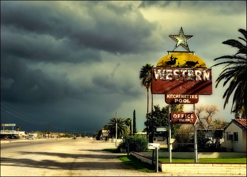arizona tucson western stormyskies oldmotelsign oldbensonhighway