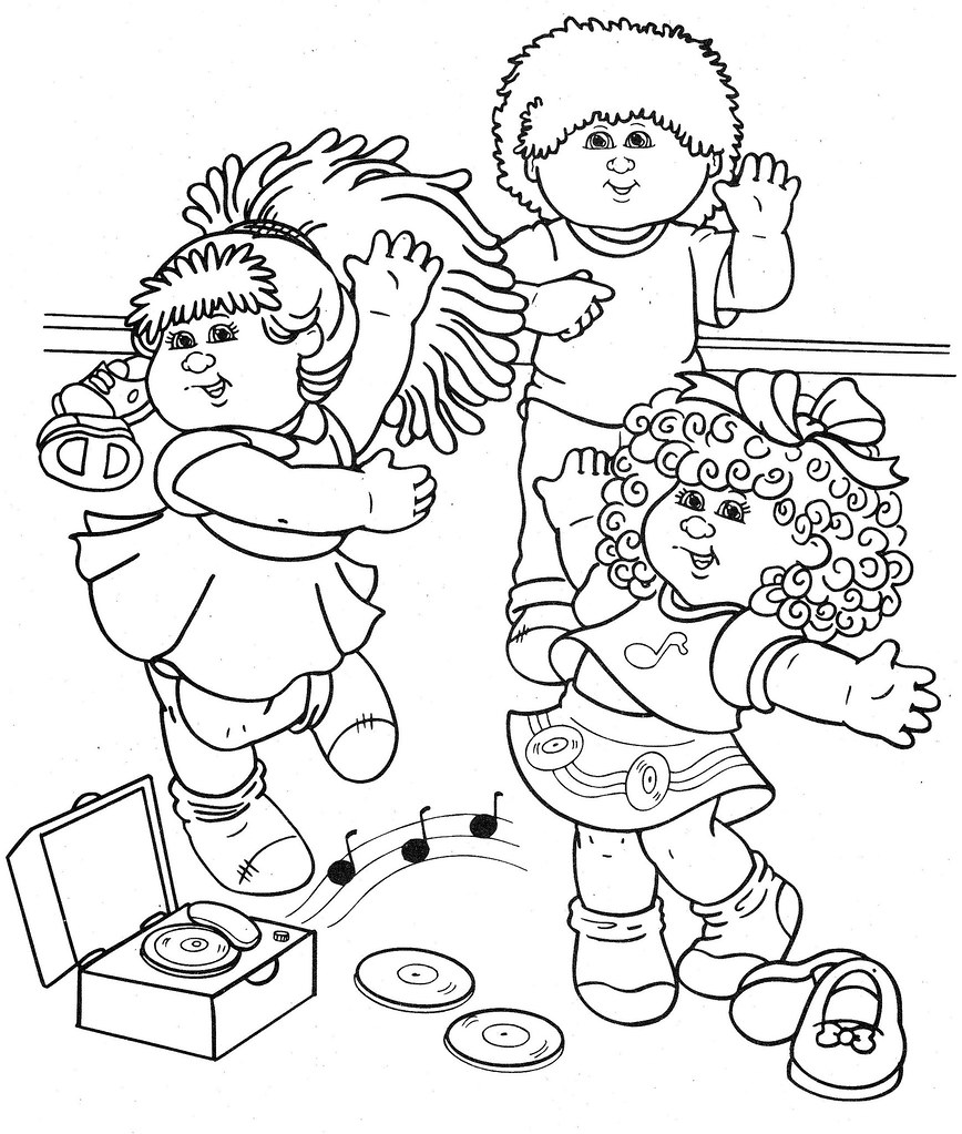 cabbage patch coloring pages - photo#37