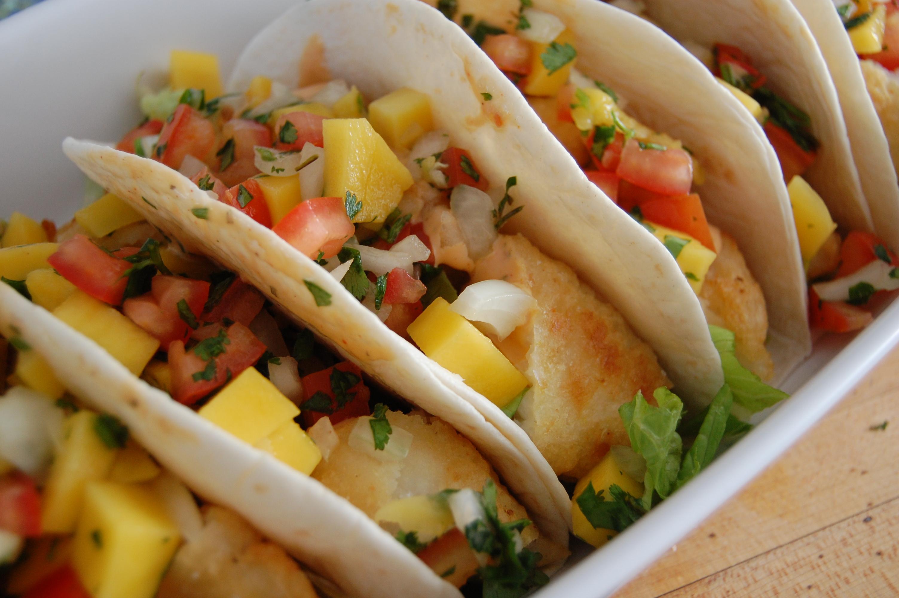 Fish tacos with mango salsa flickr photo sharing for Fish tacos with mango salsa