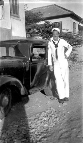 sailor with car and shadow