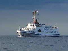 united states coast guard cutter(0.0), yacht(0.0), freight transport(0.0), research vessel(0.0), anchor handling tug supply vessel(0.0), platform supply vessel(0.0), cargo ship(0.0), fishing trawler(0.0), pilot boat(0.0), fishing vessel(0.0), tugboat(0.0), ferry(1.0), motor ship(1.0), vehicle(1.0), ship(1.0), sea(1.0), patrol boat(1.0), passenger ship(1.0), watercraft(1.0), boat(1.0),