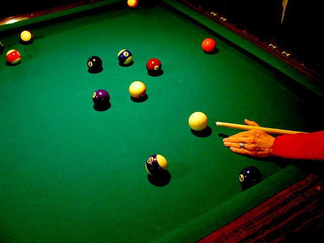 Pool table balls green arm cue flickr photo sharing for 10 in 1 pool table