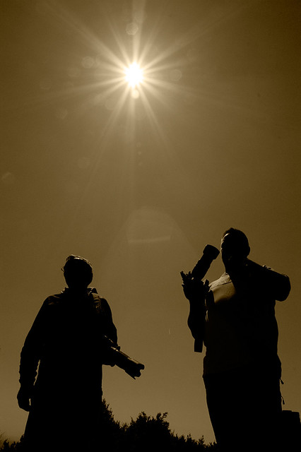 Fotógrafos al sol II / Photographers in the sun II