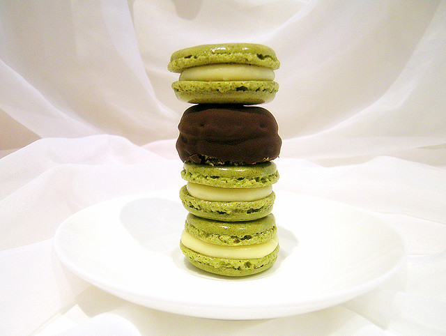 Matcha White Chocolate Macarons