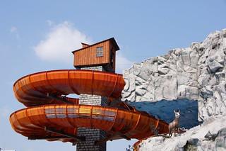 Image of Wildalpenbahn. vienna wien park austria österreich waterslide freizeit prater sehenswürdigkeit wildalpenbahn vergnügung wasserrutschbahn