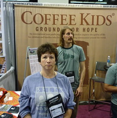 Julie in front of Kyle in front of Coffee Kids