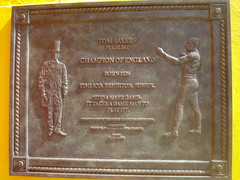 Photo of Tom Sayers bronze plaque