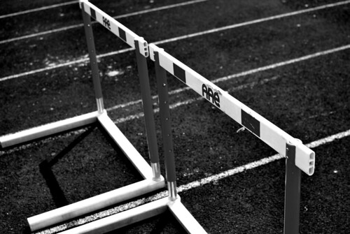 staying between the lines sometimes requires jumping some hurdles