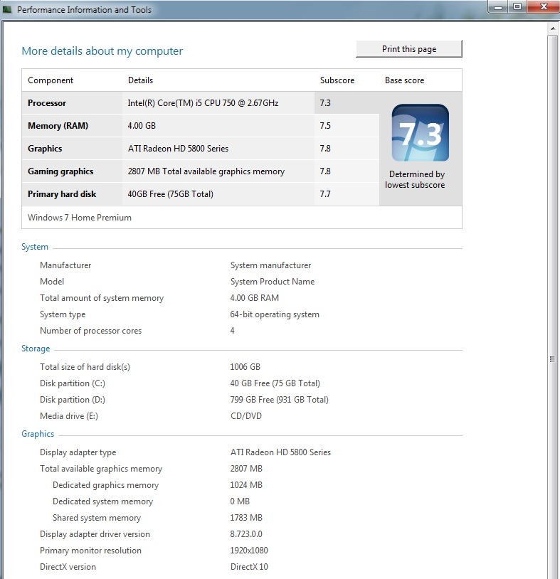 What your windows 7 system rating page 8 www R rating for windows