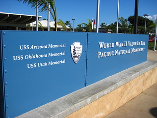 Image of World War II Valor in the Pacific National Monument near 'Aiea. vacation holiday hawaii harbor oahu harbour wwii ww2 pearlharbor pearl worldwartwo