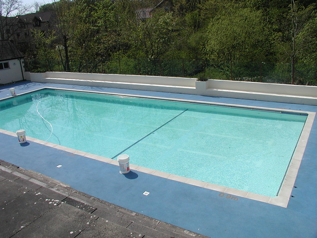 Heated outdoor swimming pool flickr photo sharing for Heated garden swimming pools
