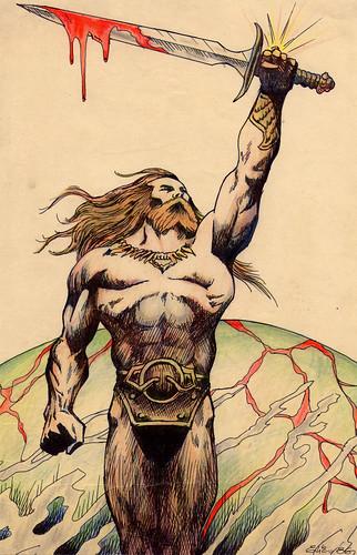 Bloodstone - Frank Frazetta by elias silveira ilustração & design