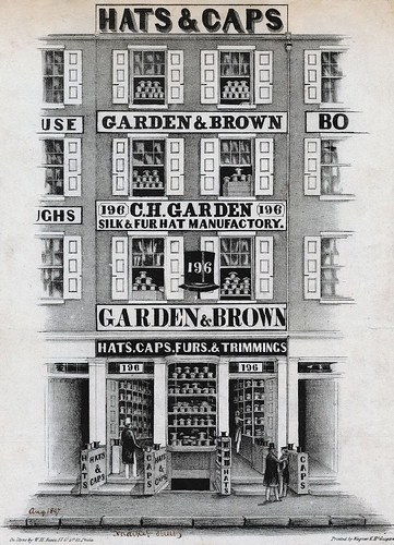 Garden & Brown, silk & fur hat manufactory, 196 Market Street, Philadelphia, [August 1847]