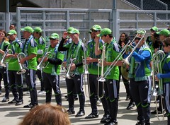 parade(0.0), marching(0.0), saint patrick's day(0.0), festival(1.0), marching band(1.0), musician(1.0), musical ensemble(1.0), person(1.0),