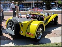 automobile, lotus seven, vehicle, automotive design, antique car, land vehicle, sports car,