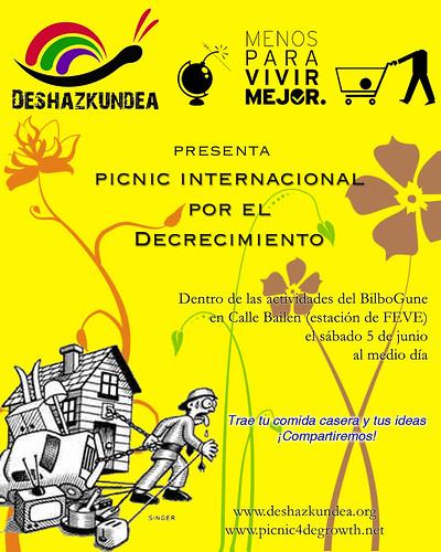 Poster del Picnic internacional por el Decrecimiento