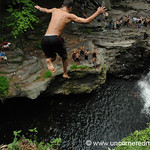 Jumping from Killer Rock at Nay Aug Park in Scranton, PA