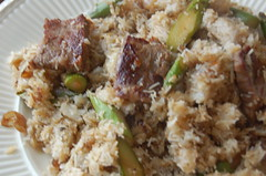 meal(1.0), vegetable(1.0), rice(1.0), meat(1.0), produce(1.0), food(1.0), pilaf(1.0), dish(1.0), stuffing(1.0), cuisine(1.0),