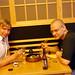 My friend and I enjoying a nice dinner by Ari Helminen
