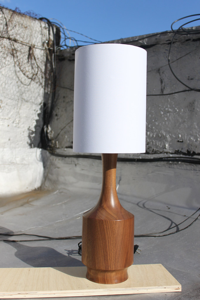 Turned Walnut Lamps
