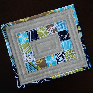 Modern Meadow Patchwork Mug Rug