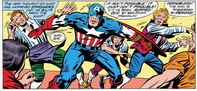 Capt America ripped off by Benjamin Franklin