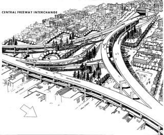 Panhandle Freeway: Central Freeway interchange (1964)