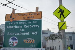 Putting America to Work - American Recovery & Reinvestment Act sign