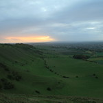 View from Westbury Hill, Bratton Downs, Westbury, Wiltshire, South West England