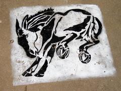 Sidewalk Stencil, Muleshoe, TX by Robby Virus