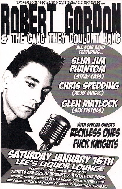 07/16/10 Robert Gordon & the Gang They Couldn't Hang @ Minneapolis, MN (Flyer)