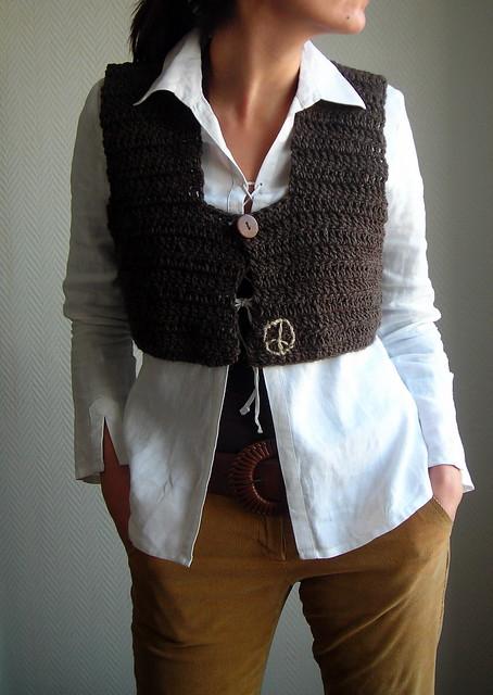 Free Crochet Pattern: Microspun 1960's Crochet 'Hippie' Vest