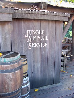 Jungle Air Mail Service from the Jungle Cruise 2nd Floor Overflow Queue