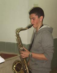 woodwind instrument, baritone saxophone, saxophonist, brass instrument, wind instrument,