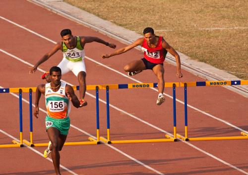 S. A. Games 2010 - Mens 400 meters hurdles