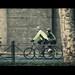 Two urban cyclists.
