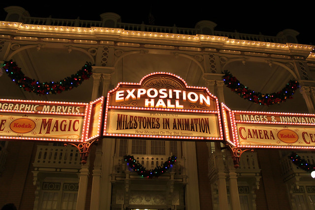 Exposition Hall by night