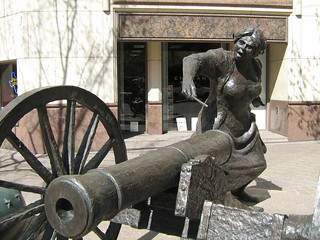 Angelina Eberly who fired a cannon to warn the city