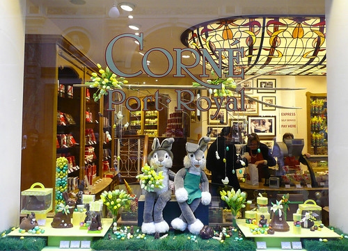 Easter window dressing