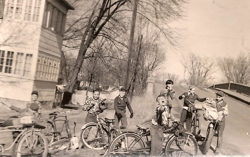 the boys of Autumn, 1952: bike-riding on Ash in Maywood