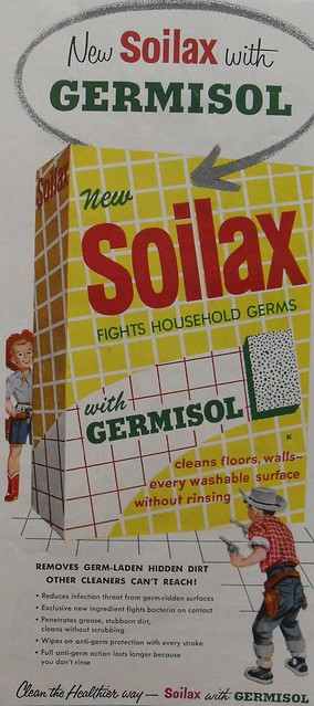 1950s soilax detergent cleaner with germisol vintage