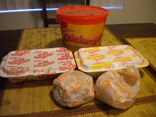Dinner from Jollibee!