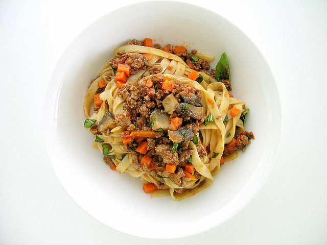 Mushroom Bolognese With Fettuccini Recipes — Dishmaps