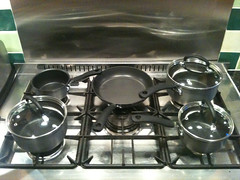 gas stove, cookware and bakeware,