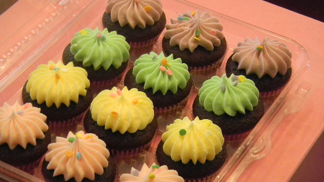 Colorful Box of Mini Cupcake Poppers | Flickr - Photo Sharing!