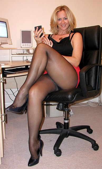 In Black Pantyhose At 62