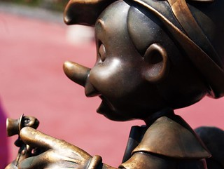 Pinocchio and Jiminy Cricket Statue
